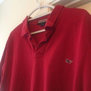 VINEYARD VINES🐳Logo Polo Red 2XL